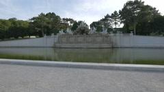 The Neptune Fountain at Schönbrunn Palace, Vienna Stock Footage