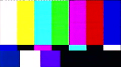 Tv static noise color bars bad signal Stock Footage