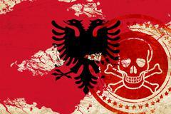 Stock Illustration of Albania flag