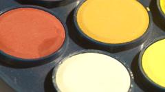 Watercolor paint spots - stock footage