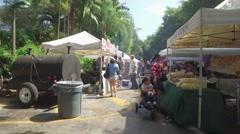 Pinecrest Gardens farmers market shot with a motion camera Stock Footage