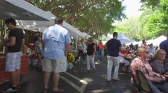 Pinecrest Gardens farmers market held on sundays Stock Footage