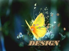 DESIGN  Bright word, Bright beautiful moth or butterfly on fairy tale backgro - stock illustration