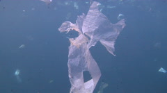 Plastic bags, underwater, marine pollution, HD, UP24023 Stock Footage