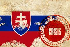 Slovakia flag - stock illustration