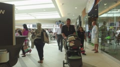 Video of a mall food court Dadeland Miami Stock Footage