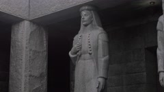 Njegos mausoleum sculpture Stock Footage