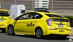 California Yellow Cab Icon and Logo - stock photo