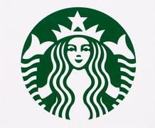 Starbucks Logo in Detail Stock Photos