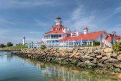 Parker's Lighthouse Restaurant and Exterior Stock Photos