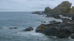 Coastal view, St Abbs, Scottish Borders Stock Footage
