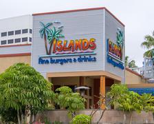 Islands Fine Burgers & Drinks Exterior Stock Photos