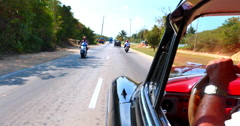 4K Point of View of Driver in Cuba Havana Car, Classic American Car Stock Footage