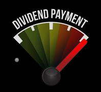 Stock Illustration of dividend payment meter sign concept