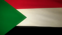 Flag Sudan Stock Footage