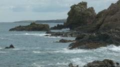 Timelapse Coastal view, St Abbs, Scottish Borders Stock Footage