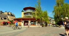 4K Summer at Whistler Mountain Village, British Columbia Canada Arkistovideo