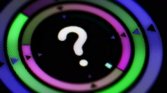 Question mark. Looping. Stock Footage
