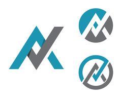 A Letter Logo Template - stock illustration