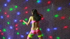 beautiful sexy girl dancing go go - stock footage