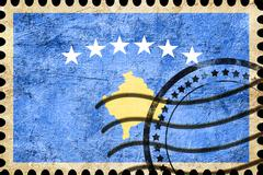 Kosovo flag - stock illustration
