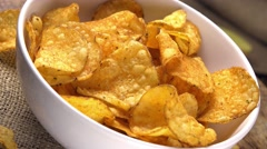 Potato Chips (seamless loopable; 4K) Stock Footage