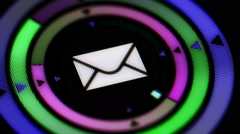 E-mail icon. looping. Stock Footage