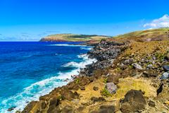 Shoreline of Easter Island Stock Photos