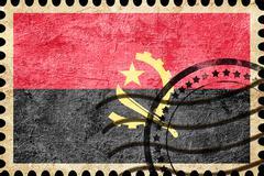 Angola flag - stock illustration