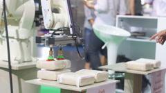 Robotic hand on work Arkistovideo