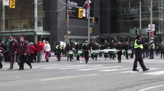 29th St. Patrick's Day Parade Toronto, Canada 2016 Stock Footage