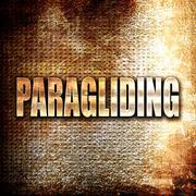 paragliding sign background - stock illustration