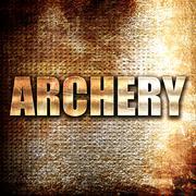 archery sign background - stock illustration