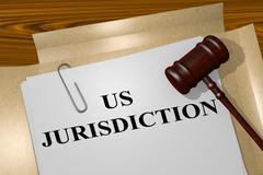 US Jurisdiction concept - stock illustration