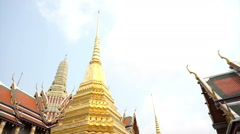 Wat Phra Kaew, Temple of the Emerald Buddha Landmark of Bangkok,Thailand Stock Footage