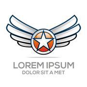 Logo Star Wing Abstract Logo Vector Angel design Stock Illustration