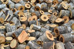 Stock Photo of small wood logs pile with any size