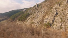 Flying over rocks - stock footage