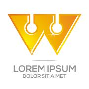 Business Creative Star M Company logo Design Icon Solution Stock Illustration
