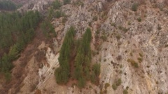 Flying over rocks Stock Footage