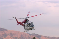 Fire Department Helicopter Stock Footage