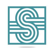 Logo Abstract Letter S Infinity Corporation Concept Design Vector - stock illustration