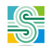 Logo Abstract Letter S Infinity Corporation Concept Design Vector Stock Illustration