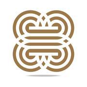 Logo Abstract Infinity Corporation - stock illustration