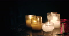 Candles in church - France Clermont-Ferrand Cathedral Stock Footage