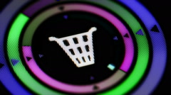 Dustbin icon. Looping. Stock Footage