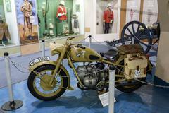 BMW Motorcycle Afrika Corps 1942 Stock Photos