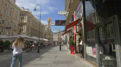 People relaxing at Segafredo am Graben Cafe, Vienna Stock Footage