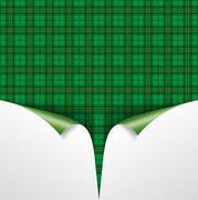 St. Patricks Day Vintage Tartan Cover 2 Scrolled Corners Stock Illustration