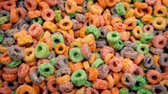 Multicolor Cereal Hoops - stock footage